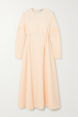 Emilia Wickstead Cerise Cloque Midi Dress - Cream
