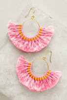 Anthropologie Josephina Tassel Hoop Earrings