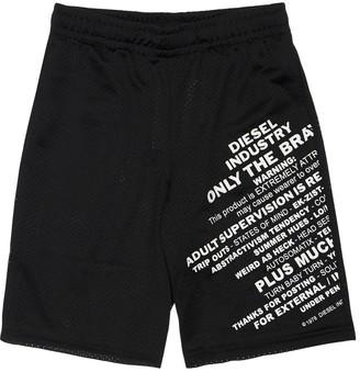Diesel Printed Mesh Shorts