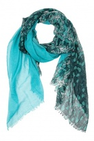 Spun by Subtle Luxury Abstract Scarf Aqua