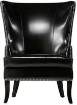 Home Decorators Collection Moore 29.5 in. W Black Wing Back Chair