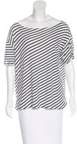 R 13 Striped Short Sleeve Top