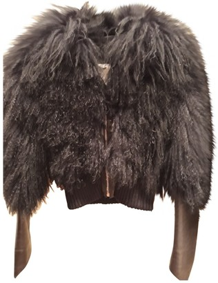 John Richmond Black Mongolian Lamb Jacket for Women
