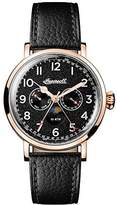 Ingersoll Men's The St Johns Quartz Watch with Black Dial and Black Leather Strap I01602