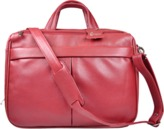 """ROYCE New York Executive American Leather 15\"""" Laptop Briefcase, Red."""