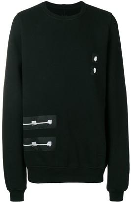 Rick Owens patch jersey sweatshirt
