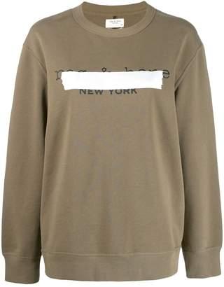 Rag & Bone taped logo sweater