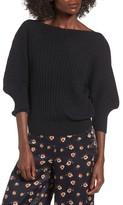 J.o.a. Women's Rib Knit Blouson Sweater