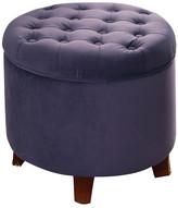 HomePop Upholstered Storage Ottoman