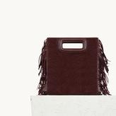 Maje Ponyskin bag with fringing