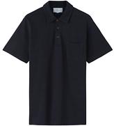 Jigsaw Pique Short Sleeve Polo Shirt, Indigo