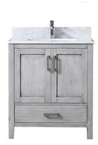 "Michaella 30"" Single Bathroom Vanity Base Only Wrought Studio Base Finish: Distressed Gray"