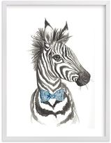 Pottery Barn Kids Dapper Zebra Wall Art by Minted(R) 16x20