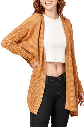 Olivia Pratt Waffle Knit Cardigan With Side Slits