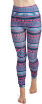 Navy & Fuchsia Butterfly-Stripe Leggings