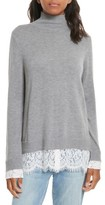 Joie Women's Fredrika Lace Inset Sweater