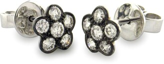Sethi Couture Diamond Flower Stud Earrings