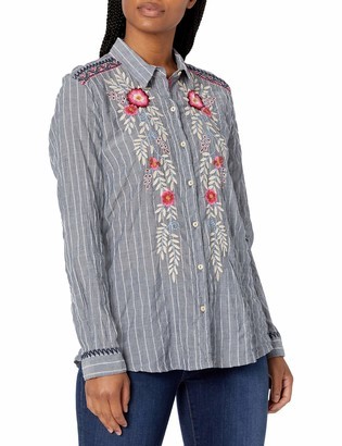 3J Workshop by Johnny was Women's Cotton Buttondown Shirt with Embroidery