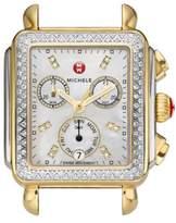 Michele Deco Diamond Diamond Dial Two-Tone Watch Case, 33mm x 35mm