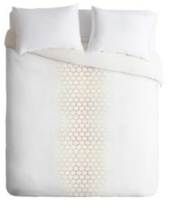 Deny Designs Holli Zollinger Gold Honeycomb King Duvet Set Bedding