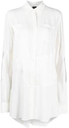 Pinko Long-Length Button-Up Shirt
