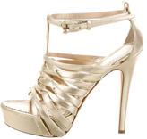 Ermanno Scervino Metallic Cage Sandals
