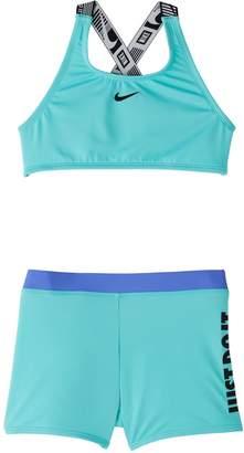 Nike Swim Girl's JDI 2-Piece Crossback Tankini Top Shorts Set