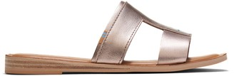 Toms Rose Gold Metallic Leather Women's Seacliff Sandals