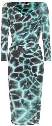Roberto Cavalli Animal-print jersey dress