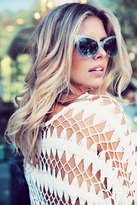 Wildfox Couture Sunwear Grand Dame Sunglasses in Crystal Cove/Gloss Silver