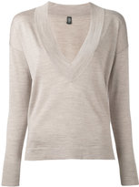 Eleventy v-neck jumper - women - Silk/Merino - M