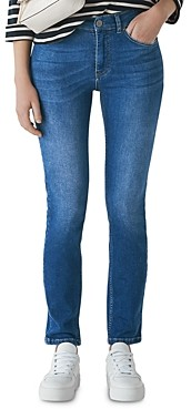 Whistles Mid Rise Skinny Jeans in Mid Wash
