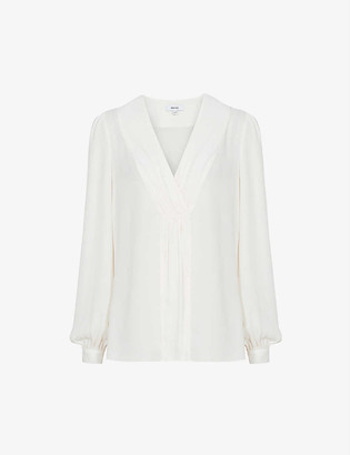 Reiss Bridgette woven top