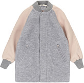 Stella McCartney Contrast sleeves wool coat 4-14 years