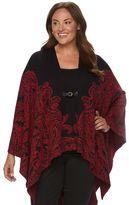 Dana Buchman Plus Size Sweater Poncho