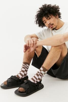 Rider Black R Next 23 Sandals - Black UK 7 at Urban Outfitters