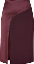 Hakaan Bordeaux Pencil Skirt