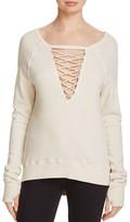 Pam & Gela Eyelet-Laced Sweatshirt