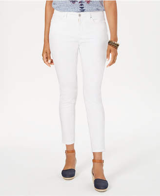 Style&Co. Style & Co Curvy-Fit Tummy-Control Ankle Stain Release Skinny Jeans