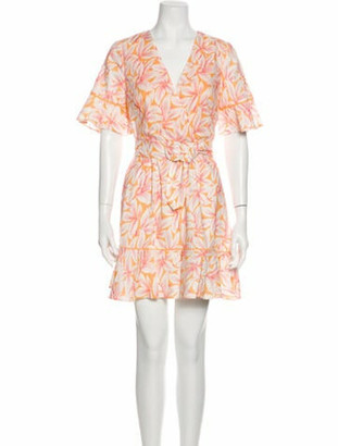 Jonathan Simkhai Printed Mini Dress Orange