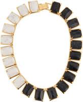 Lele Sadoughi Gardenia Two-Tone Link Necklace, Black/White