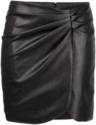Pinko Faux-Leather Skirt