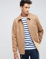 Asos Wool Mix Coach Jacket In Camel