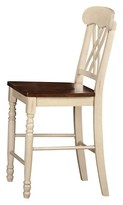 ACME Furniture Dylan Counter Height Dining Chair Wood/Buttermilk/Oak (Set of 2) - Acme