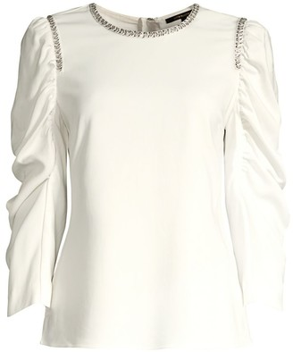 Kobi Halperin Logan Sequin-Trim Blouse