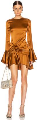 Caroline Constas Monique Mini Dress in Bronze | FWRD