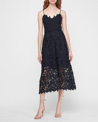 Express Floral Lace Midi Dress