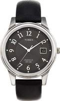 Timex Classic Mens Classic Black Leather Strap Watch - T29321