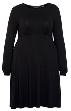 Dorothy Perkins Womens Dp Curve Black Midi Dress, Black