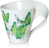 Villeroy & Boch New Wave Café Mug Deep Green Haystreak Butterfly